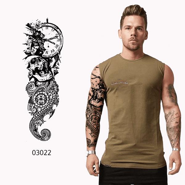 Ajutine-kleeps-tattoo-kellaga-kolp