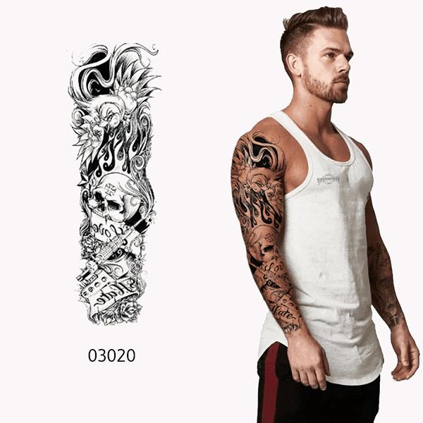 Ajutine-kleeps-tattoo-ristiga-kolp