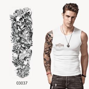Ajutine-tattoo-kaartidega-pealuu-03037