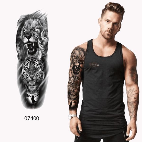 Ajutine-tattoo-lõvi-ja-tiiger-07400