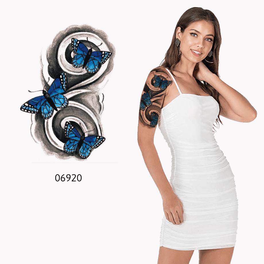 Ajutine-tattoo-sinised-liblikad-06920