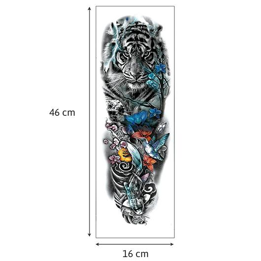 Tätoveering-tiiger-mõõdud