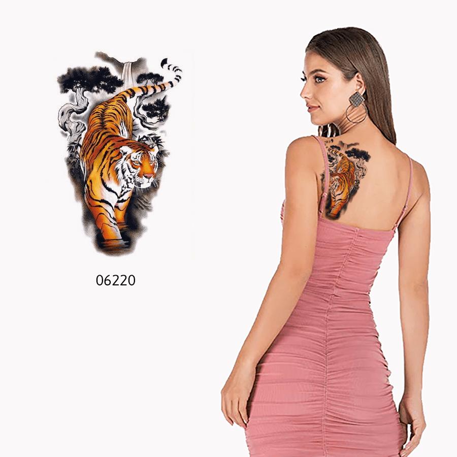 Ajutine-tattoo-värviline-tiiger-06220