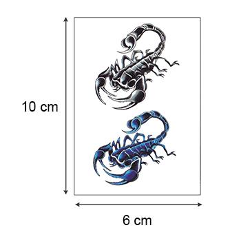 Ajutine tätoveering skorpionid 06800 mõõdud