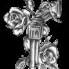 Vesi-tattoo-revolver-ja-roosid