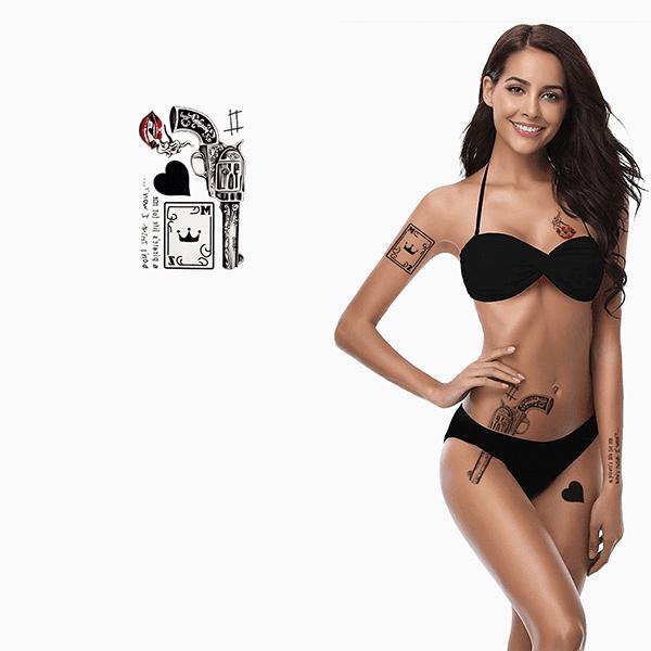 Ajutine-vesi-tattoo-revolver-ja-kaart
