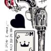 Ajutine-vesi-tattoo-revolver,-kaart,-tekst 47100