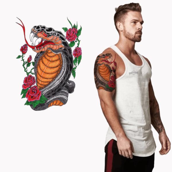 Ajutine-tätoveering-kobra-roosid-62400