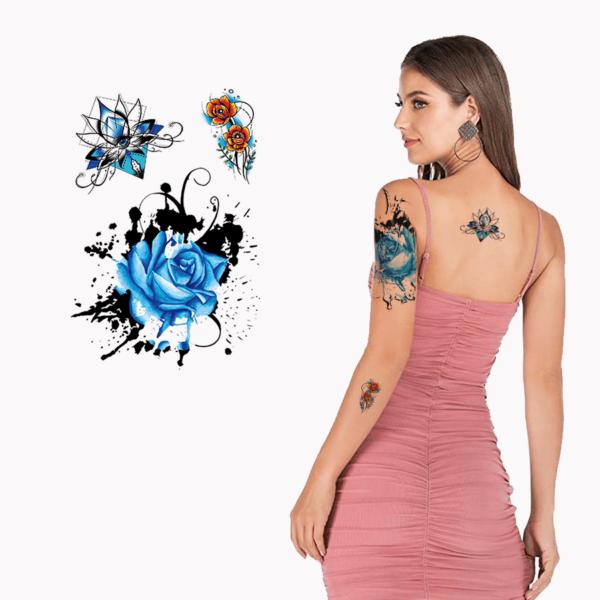 Ajutine-tattoo-sinine-roos-lilled-24200