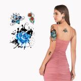 Ajutised-tattood-sinine-roos